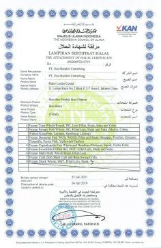 Awards & Certification HALAL CERTIFICATE 2 0012